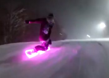 snowboard met LED verlichting